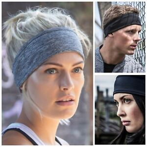 Running Headband Tapered Stretch Fabric Hair Band Gym Football Sports Sweatband