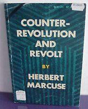 Counter-Revolution and Revolt, Herbert Marcuse, 1972 PB