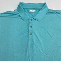 Grand Slam Golf Polo Shirt Men's Size 4XB Short Sleeve Light Blue 100% Polyester