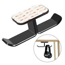 Acrylic Headphones Stand Hanger Hook Tape Under Desk Dual Headset Mount Holder