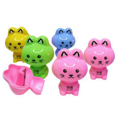 Cartoon Cat Plastic Pencil Sharpener Kids School Supplies Korean StationeryCXV