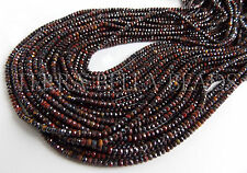 "12.5"" multi TIGER EYE faceted gem stone rondelle beads 2mm - 2.5mm brown red"