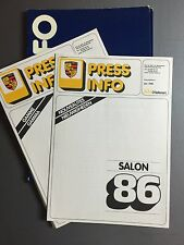 1986 Porsche Full Line ORIGINAL Press Kit, Pressemappe D'leteren Dutch, French