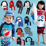 "Vaenait Baby Toddler UPF+50 Kids UV Rashguard Swimming set ""Boys swimsuit"" 2T-7T"