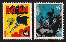 Batman #1 The Dark Knight Robin Batkid Adam West Gotham City US Stamps Set MINT!
