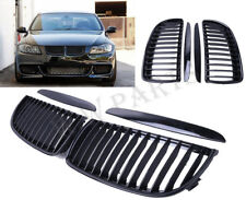 Gloss Black Front Kidney Grill Grilles For BMW Saloon For E90 E91 2005-2008 4D