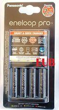 Carica Batterie Rapido Panasonic Eneloop BQ-CC55E +4 pile NiMH AA size BK-3HCDE