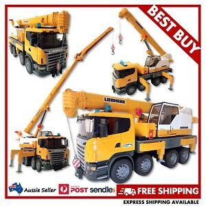 BRUDER Scania Liebherr Crane Truck w/ Light & Sound 1:16 #03570 - EXCELLENT USED