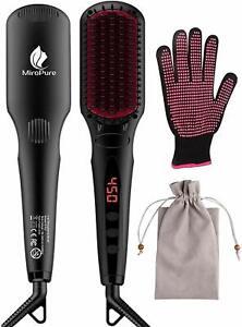 Enhanced Hair Straightener Brush 2-in-1 Ionic Straightening Brush