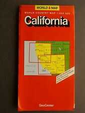 World Country Paper Folded Map 1:800,000 California GeoCenter 1999