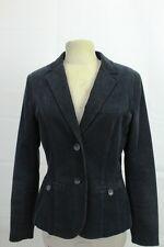 ANNE L Damen Fein-Cord-Blazer Jacke, Schwarz Gr. 36