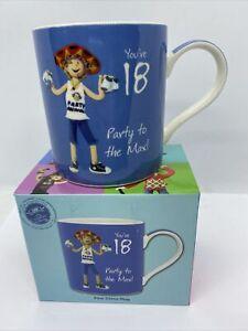 Happy 18th Birthday Gift. Male, Novelty Mug.
