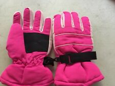 Children's Ski/ Snow Winter Gloves Pink/Black Size Child S/M