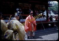 Nikko Japan Religious Dancers 1950s 35mm Slide Vtg Red Border Kodachrome