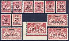 DANZIG 1923 Gulden Currency set MNH / **