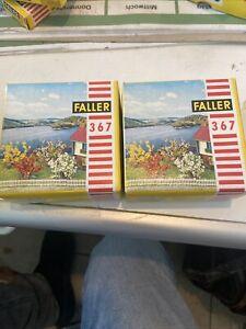 2x Faller 367 blühende Büsche 8 Stück OVP