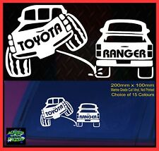 HILUX LANDCRUISER Ute 80 100 series 4x4 accessories Stickers 200mm for Toyota