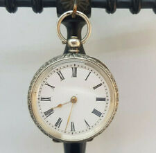 ANTIQUE SMALL SOLID SILVER POCKET WATCH 38 MM. SPARE ONLY NEED SERVICE
