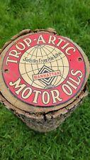 OLD VINTAGE TROP-ARTIC MOTOR OIL GASOLINE PORCELAIN ADVERTISING GAS STATION SIGN