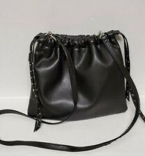 Express Black Crossbody Bag Pouch studded drawsting inner pocket