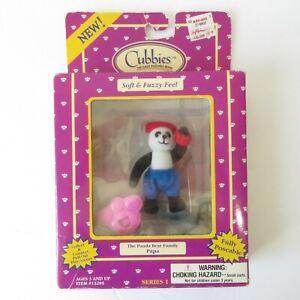 Vtg Just Toys Cubbies Series 1 Soft & Fuzzie Panda Bear Papa Poseable Figurine