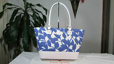 NWT Kate Spade Small Harmony Wellesley Leaves Fabric & Leather Tote