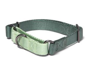 "Adjustable No Choke Martingale collar for dog, 10"" - 16"" Light Dark Green, NWT M"