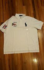 New Mens Ralph Lauren Regatta Nautical Big Pony Custom Fit Polo Shirt Sz 3XB