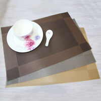 Waterproof dining table placemats mats set non slip insulation washable PVC TK