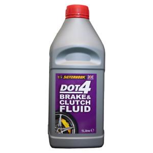 Silverhook 1L Brake Clutch Fluid DOT4  SAE J 1703 FMVSS 116 DOT 4 ISO 4925