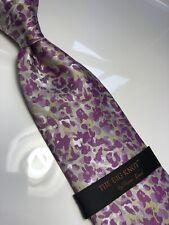 NWT STEVEN LAND Geometric Neck Tie & Hanky Big Knot Collection 100% Silk