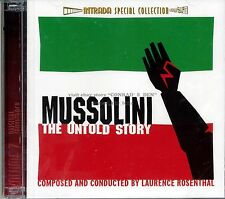 "Laurence Rosenthal ""MUSSOLINI: THE UNTOLD STORY"" score Intrada Ltd 2CD SEALED"