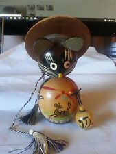 Vtg Asian Japanese Hand Carved Wooden Mouse Figure Collectible