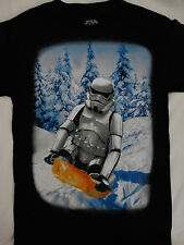 Star Wars Movie Stormtrooper Snow Sled Snow Boarding Winter Scene T-Shirt