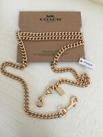 """COACH Gold 46"""" Shoulder Crossbody Curb Bag Chain Replacement Accessory Strap NEW"""
