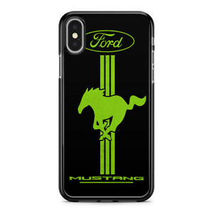 Ford Mustang Green Stripe Case for iPhone XS
