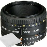 Nikon 50mm f/1.8D AF Nikkor Lens for Nikon Digital SLR Cameras - Brand New