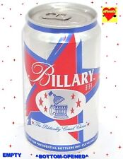 HILLARY+BILL CLINTON BILLARY BEER CAN POLITICAL PARTY STARS WHITE HOUSE ELECTION
