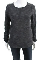 Lululemon Womens Long Sleeve Crew Neck Sweatshirt Top Gray Size 4