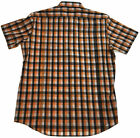 Men's Slim Fit Short Sleeve Check Shirt 100% COTTON Casual Button Front Top WS03