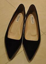 NEW L.K. Bennett Womens Black Lacquer Flat Shoes  - Size 38