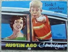 AUSTIN A60 CAMBRIDGE Car Sales Brochure c1960 #2056