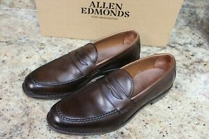 ALLEN EDMONDS MCGRAW PENNY LOAFER BROWN - 9.5B WITH BOX