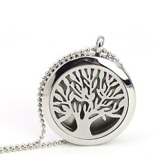 Crystal Steel Locket Necklace Aromatherapy Diffuser Essential Oil Perfume Unisex