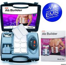 Bodi-Tek Ab Builder Stomach Muscle 6 Pack Toner - Build Tone Massage - with Case