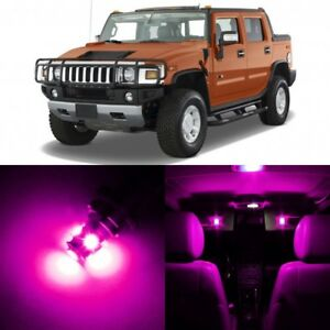 13 x Ultra PINK Interior LED Lights Package For 2003 - 2009 Hummer H2 +TOOL