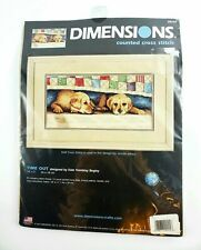 2004 Dimensions Counted Cross Stitch Kit - Time Out Puppies # 35147 Puppy Dog