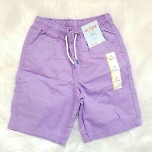 Cat & Jack Boys Pull-On Elastic Stretchy Drawstring Shorts Small Fresh Lilac