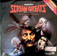 SCREAM GREATS LASERDISC-TOM SAVINI-GREG NICOTERO-CAV LASERDISC- HORROR SPEC EFX