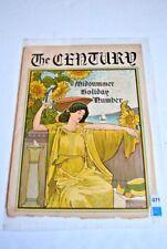 "Antique literary poster ""The Century"" Magazine, Louis J. Rhead artist"